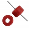Ceramic Bead Cylinder 6X4mm Red